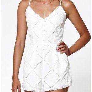 Kendall & Kylie Crochet White Romper